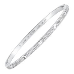 Cartier LOVE 18 Karat White Gold Diamond Bracelet