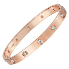 Cartier Love Bracelet 10 Diamond in 18 Karat Rose Gold