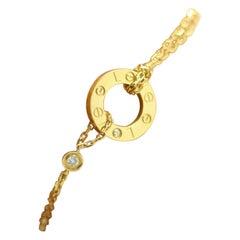 Cartier Love Bracelet 18 Karat Yellow Gold and Diamond
