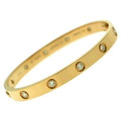 Cartier Love Bracelet in 18 Karat Rose Gold, 10 Diamonds