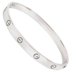 Cartier Love Bracelet in 18 Karat White Gold