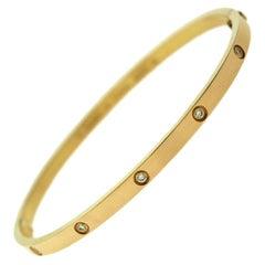 Cartier Love Bracelet Thin, Rose Gold, 10 Diamonds 'C-344'