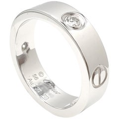 Cartier 'Love' White Gold Three-Diamond Ring