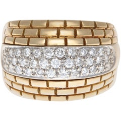 Cartier Maillon Panther Diamond Gold Ring