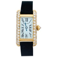 Cartier Mini Tank Allongée Watch, Diamonds