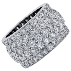 Cartier Nigeria Diamond Band 18 Karat White Gold