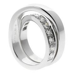 Cartier Nouvelle Vague Diamond White Gold Crossover Ring