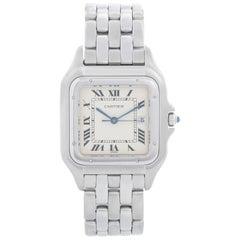 Cartier Panther Stainless Steel Men's Quartz Watch with Date