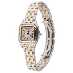 Cartier Panthere 18 Karat Yellow Gold and Stainless Steel Quartz Watch