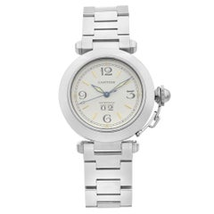 Cartier Pasha Stainless Steel White Dial Automatic Unisex Watch W31044M7