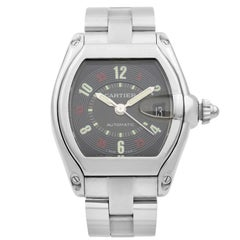 Cartier Roadster Stainless Steel Black Dial Automatic Men's Watch W62002V3