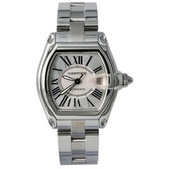 Cartier Roadster W62025V3, Silver Dial, Certified and Warranty