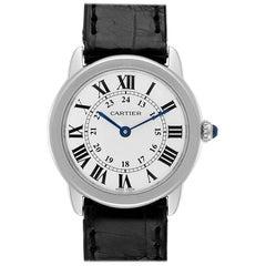 Cartier Ronde Solo Silver Dial Steel Ladies Watch W6700155