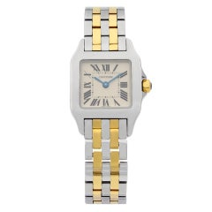 Cartier Santos Demoiselle Steel 18K Yellow Gold Quartz Ladies Watch W25066Z6
