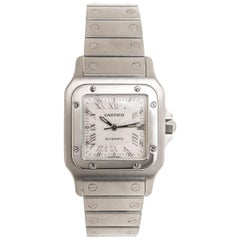 Cartier Stainless Steel Santos Galbee Large Automatic Wristwatch