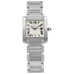 Cartier Tank 2302 Francaise Steel Silver Dial Automatic Men's Watch W51002Q3