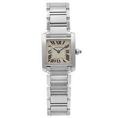 Cartier Tank Francaise Stainless Steel Silver Dial Quartz Ladies Watch W51008Q3