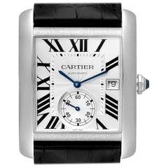Cartier Tank MC Silver Dial Steel Men's Watch W5330003 Box Card