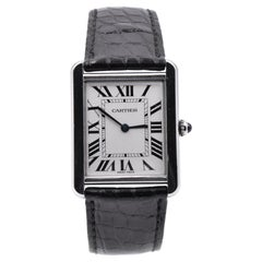 Cartier Tank Solo Stainless Steel and Leather Watch Ref. 2715