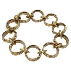 Cartier Trinity Tri-Colored Gold Link Bracelet