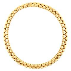 Cartier Vintage Collar Heart Necklace 18 Karat Yellow Gold