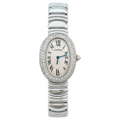 "Cartier Watch, ""Baignoire"" Collection, Diamonds"