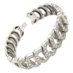 Cartier White Gold C Collection Diamond Tennis Bracelet