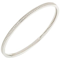 Cartier White Gold Diamond Bangle 2.90 Carat F/VS