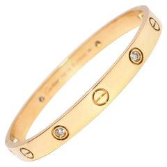 Cartier Yellow Gold Love Bracelet with 4 Diamonds