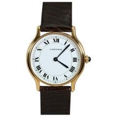 Vintage Cartier Paris 18k Yellow Gold Manual Wind Lady's Wristwatch circa 1980s