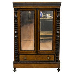Carved English Rosewood Miniature Cabinet