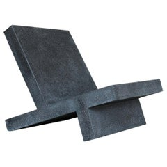 Cast Resin 'Wavebreaker' Lounge Chair, Coal Stone Finish by Zachary A. Design