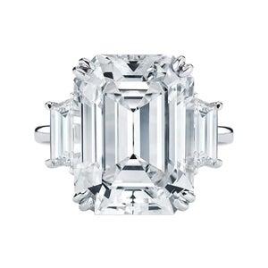 Antinori Fine Jewels Emerald-Cut Diamond and Platinum Ring, 2021