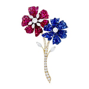 Van Cleef & Arpels Mystery-Set Flower Brooch, 1960s