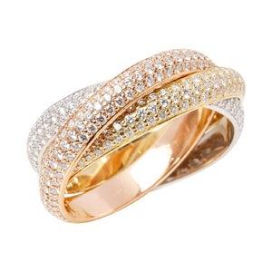 Cartier Pavé Diamond Trinity Ring, 2010s
