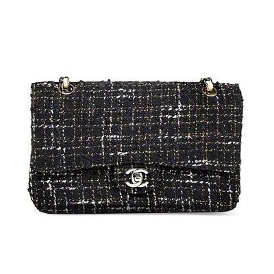Chanel Navy Tweed Flap Bag, Contemporary