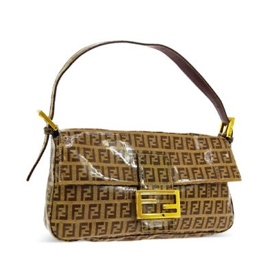 Fendi Monogram Brown PVC Flap Bag, Contemporary