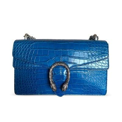 EGucci Blue Crocodile Dionysus Bag, Contemporary