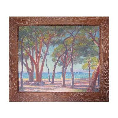 Louis Azais, Mediterranean Seascape, Early 20th Century