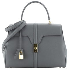 Celine 16 Top Handle Bag Grained Calfskin Medium