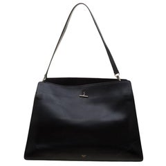 Celine Black Leather Shoulder Bag