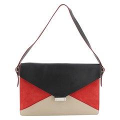 Celine Diamond Shoulder Bag Leather and Suede Large