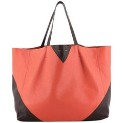 Celine Horizontal Bi-Cabas Tote Leather Large