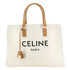 Celine Horizontal Cabas Tote Canvas with Leather