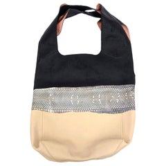 Celine Leather and Snakeskin Shoulder Hobo Shoulder Bag Vintage