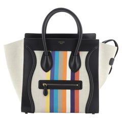 Celine Luggage Bag Canvas and Leather Mini