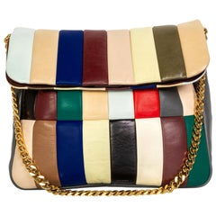 Celine Phoebe Philo Multi Gourmette Patchwork Gold Chain Strap Shoulder Bag,2012