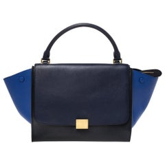 Celine Tri Color Leather Medium Trapeze Bag