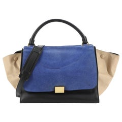 Celine Tricolor Trapeze Bag Suede Medium