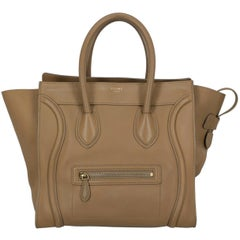 Celine  Women's Tote Bag Luggage Beige Leather